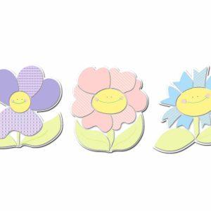 Smiling Flowers αφρώδη αυτοκόλλητα 3 επιπέδων Medium