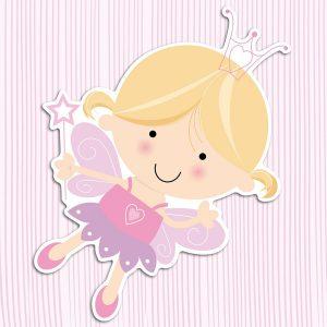 Happy Fairies αφρώδη αυτοκόλλητα 3 επιπέδων Medium