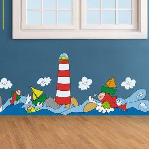 Sea μπορντούρα τοίχου αυτοκόλλητη