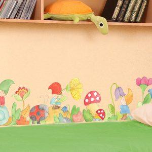 Gnome's Wood μπορντούρα τοίχου αυτοκόλλητη