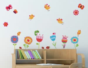 Birds & Flowers αυτοκόλλητα τοίχου