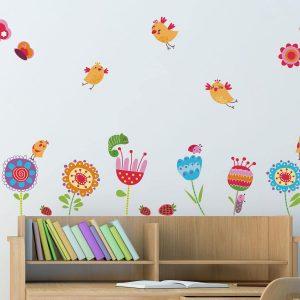 Birds and Flowers διακοσμητικά αυτοκόλλητα τοίχου Large