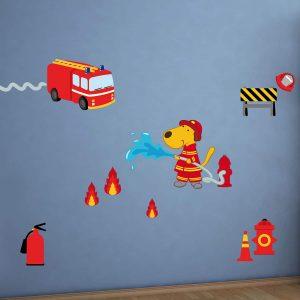 Fireman διακοσμητικά αυτοκόλλητα τοίχου Large