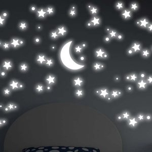 Starry Night φωσφορίζοντα αυτοκόλλητα τοίχου Large