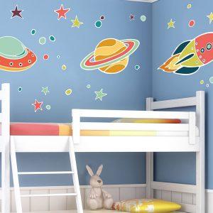 UFO διακοσμητικά αυτοκόλλητα τοίχου XL