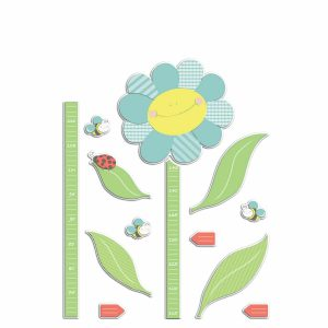 Smiling Flowers υψομετρητής αφρώδης αυτοκόλλητος Large