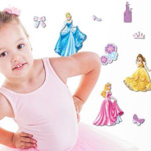 Princess Disney διακοσμητικά αυτοκόλλητα τοίχου 3 επιπέδων Medium