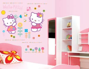 Hello Kitty αυτοκόλλητα τοίχου XL