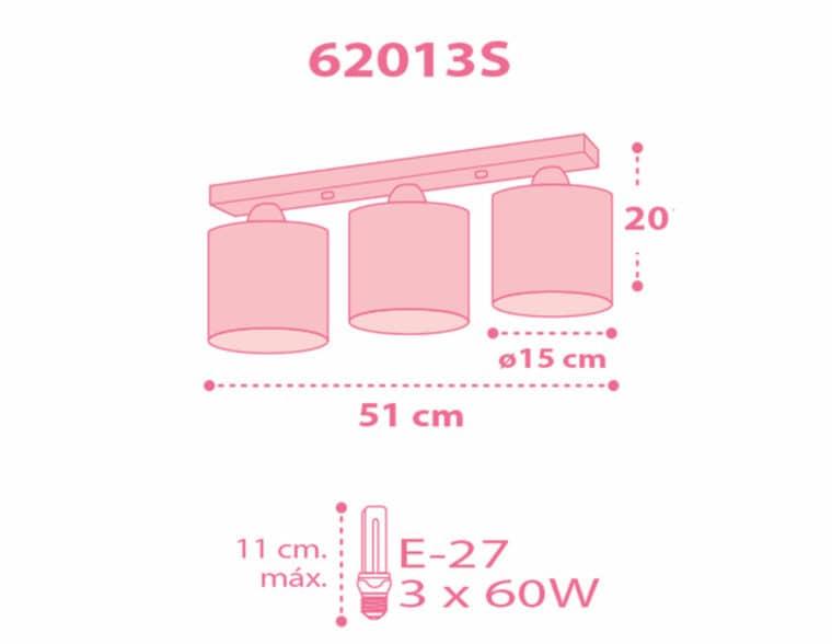 Sweet Dreams Pink παιδικό φωτιστικό οροφής τρίφωτο