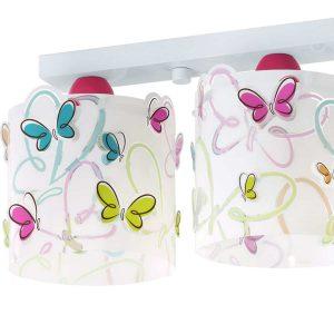 Butterfly φωτιστικό οροφής τρίφωτο
