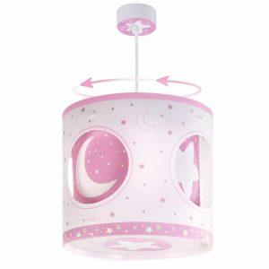 Pink Moon περιστρεφόμενο φωτιστικό οροφής