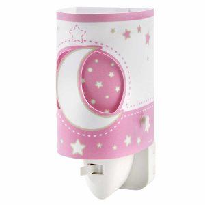 Pink Moon φωτιστικό νύκτας πρίζας LED