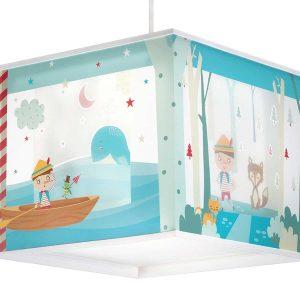 Pinocchio φωτιστικό οροφής τετράγωνο