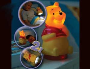 Winnie Pooh κομοδίνου και φακός LED