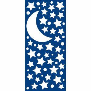 White Stars φωσφορίζοντα αυτοκόλλητα τοίχου Medium-Large