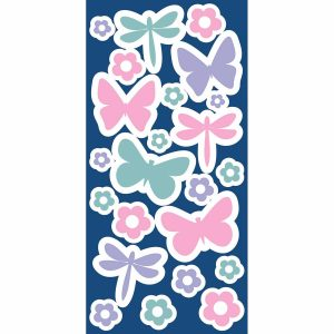 Butterflies φωσφορίζοντα αυτοκόλλητα τοίχου Small