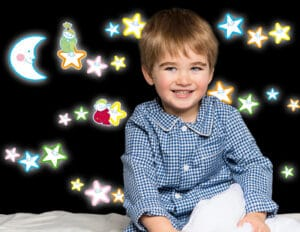 Smiling Stars φωσφορίζοντα τοίχου M