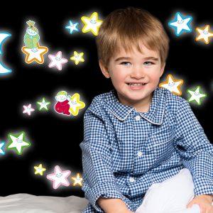 Smiling Stars φωσφορίζοντα αυτοκόλλητα τοίχου Medium
