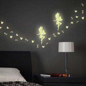 Fairy Glow φωσφορίζοντα αυτοκόλλητα τοίχου Medium