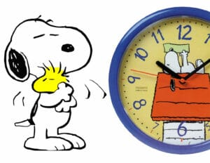 Snoopy ρολόι τοίχου