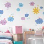 Happy Clouds αυτοκόλλητα τοίχου XL