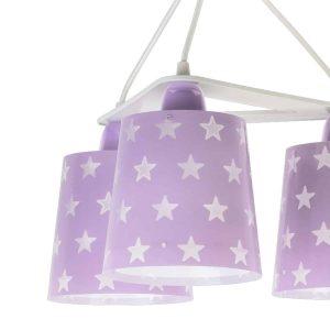 Stars Purple κρεμαστό τρίφωτο οροφής