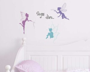 Fairies αυτοκόλλητα τοίχου XS