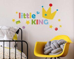 Little King αυτοκόλλητα με μήνυμα τοίχου M