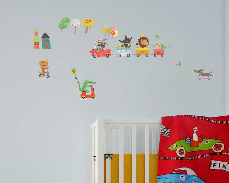 15112 ANIMAL HIGHWAY βινυλίου αυτοκόλλητα τοίχου