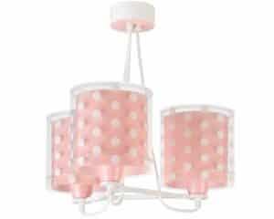 Dots Pink κρεμαστό τρίφωτο οροφής