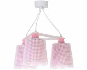 Vichy Pink κρεμαστό τρίφωτο οροφής