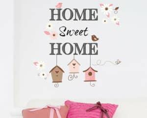 Home Sweet Home αυτοκόλλητα τοίχου L