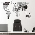 World Map αυτοκόλλητα τοίχου XL