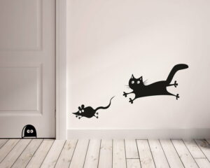 Mouse & Cat αυτοκόλλητα τοίχου ML