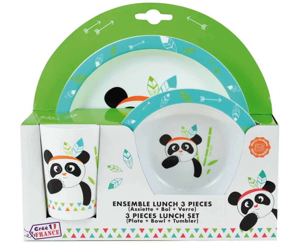 Indian Panda σερβίτσιο τριών τεμαχίων